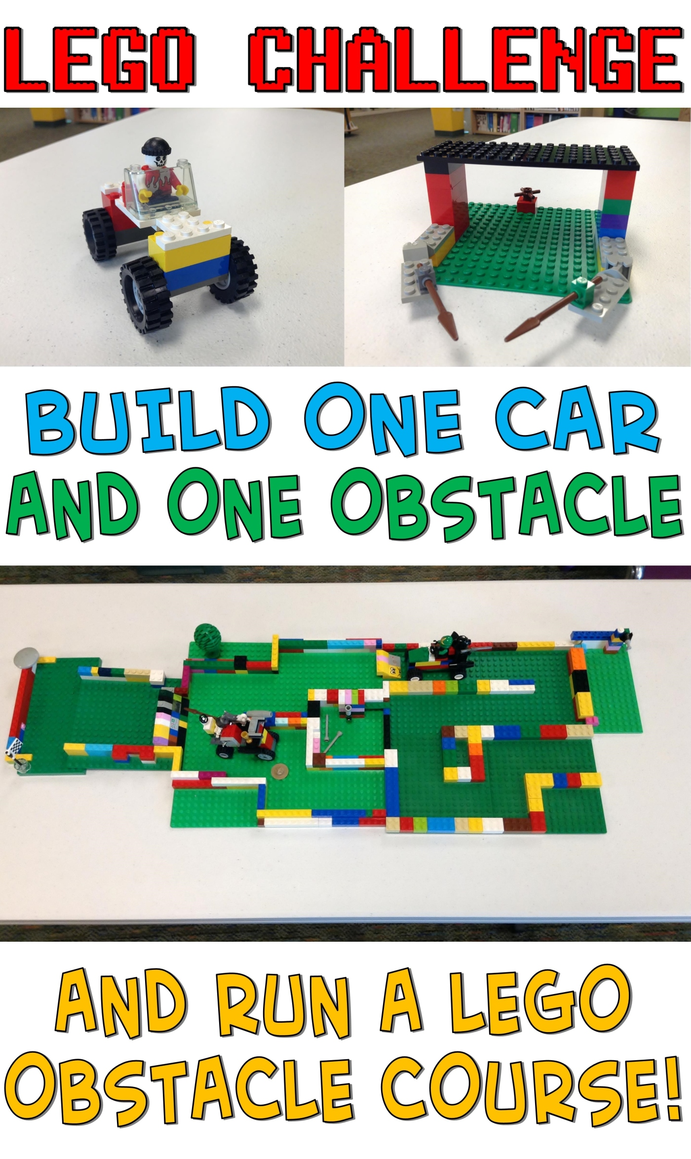 Lego Challenge–Car Obstacle Course – The Lego Librarian