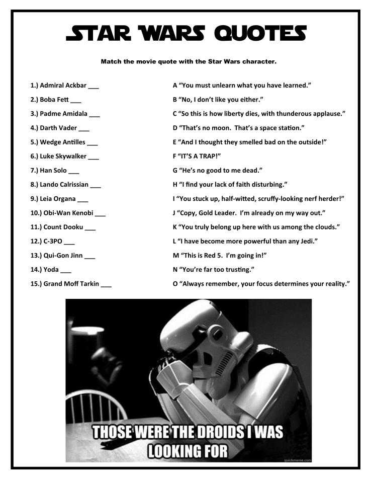 Star Wars--Star Wars Quotes