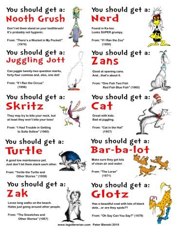 Seuss--Pet Sheet 1