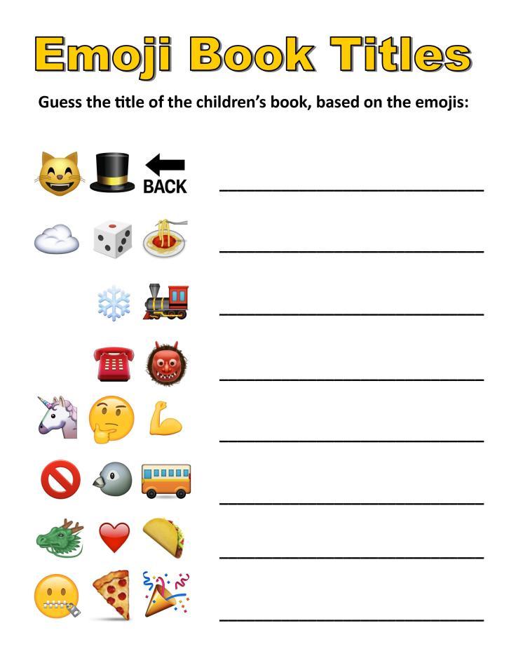 Emoji Book Title