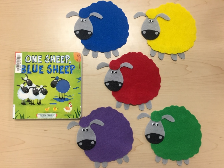 One Sheep Blue Sheep