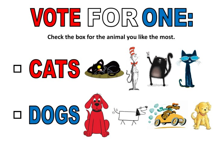 Cats vs Dogs Voting Ballot
