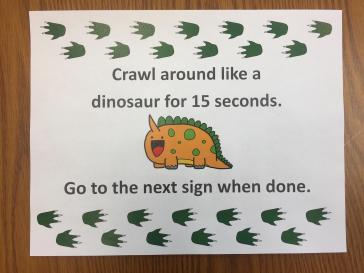 Dinosaur Obstacle Course 2